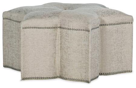Hooker Furniture Sanctuary 2 58755200195 Living Room Ottoman Beige, Silo Image