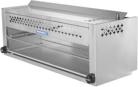 TACM-48 48″ Cheese Melter with 40 000 BTU Output  Chrome Plated Heavy Duty Rack  Infra-Red Burner and Adjustable Gas Valve in Stainless