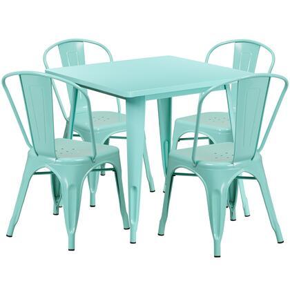 Flash Furniture ETCT002 ETCT002430MINTGG Outdoor Patio Set Green, ETCT002430MINTGG set