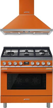 Smeg  930908 Kitchen Appliance Package Orange, 1