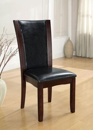 Furniture of America Manhattan I CM3710SC2PK Dining Room Chair Black, Main Image