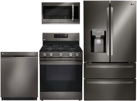 LG 861981 Kitchen Appliance Package & Bundle Black Stainless Steel, main image