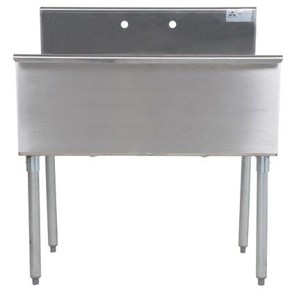 Advance Tabco Budget Line 600 642481X Commercial Sink Stainless Steel, 2 Compartment Main Image