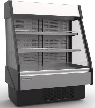 KGL-RS-60-S 60″ Grab-N-Go Low Profile Case with 19.85 cu. ft. Capacity  Front and Rear Loading  Electric Shutter and LED Lighting in Stainless