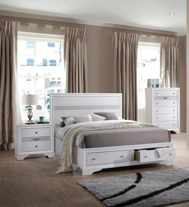Acme Furniture Naima 3 Piece Queen Size Bedroom Set