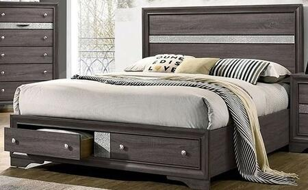 Furniture of America Chrissy CM7552GYBED Bed Gray, 1
