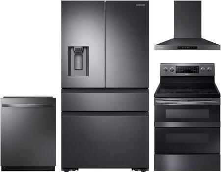 Samsung  1011449 Kitchen Appliance Package Black Stainless Steel, Main Image