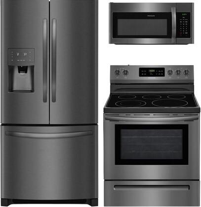 Frigidaire 889280 Kitchen Appliance Package & Bundle Black Stainless Steel, main image