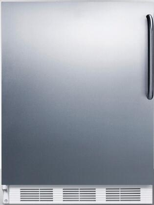 Summit FF7BISSTBLHD Compact Refrigerator Stainless Steel, Main Image