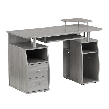 RTA-8211-GRY Complete Computer Workstation Desk With Storage  in