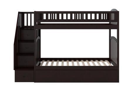 Atlantic Furniture Westbrook AB65651 Bed Brown, AB65651 SILO SK TR1 180