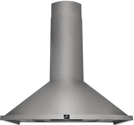 FRHWM5010-30 30″ Campobasso Chimney Style Wall Mounted Range Hood with 450 CFM  3 Fan Speeds  LED Lighting and Stainless Steel Hybrid Filters in