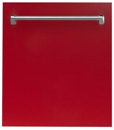 ZLINE  DWRG24 Built-In Dishwasher Red, DWRG24 Top Control Dishwasher