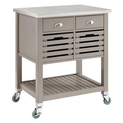 Linon Robbin 464810GRY01U Kitchen Cart, 464810GRY01U Robbin Gray Wood Kitchen Cart