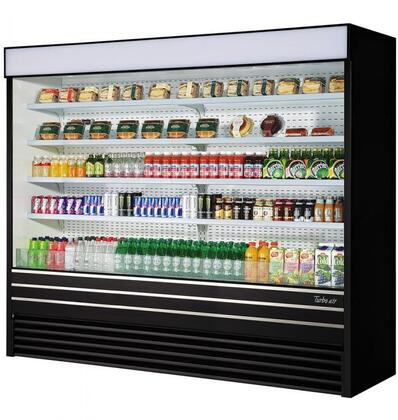 Turbo Air TOM96EBN Display and Merchandising Refrigerator Black, TOM96EBN Angled View