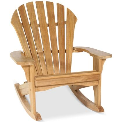 Atlantic Adirondack Collection DN-1504 Rocker with Teak Construction  Stainless Steel and Brass Hardware  Mortise and Tenon Joinery in Honey