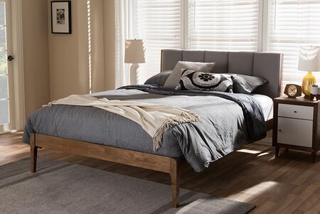Baxton Studio Ember SW8063LIGHTGREYWALNUTM7QUEEN Bed Gray, SW8063 Light%20Grey Walnut M7 Queen 6