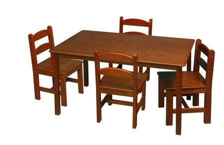 3009H Honey Rectangle Square Table w/4