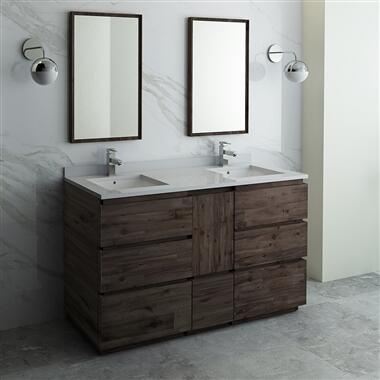 Formosa Collection FVN31-241224ACA-FC 60″ Floor Standing Double Sink Modern Bathroom Vanity with