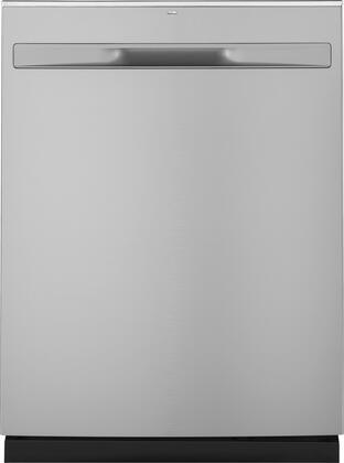 GDP615HYNFS 24″ Hybrid Dishwasher with Hidden Controls  Stainless Steel Interior  16 Place Settings  Energy Star Certified  in Fingerprint Resistant