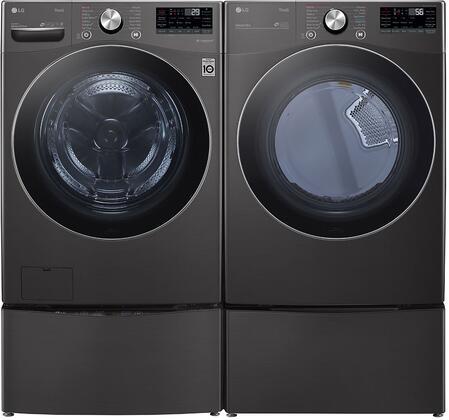 LG  1289216 Washer & Dryer Set Black, 1