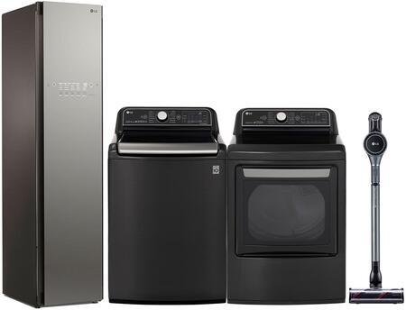 LG  1177970 Washer & Dryer Set Black, main image