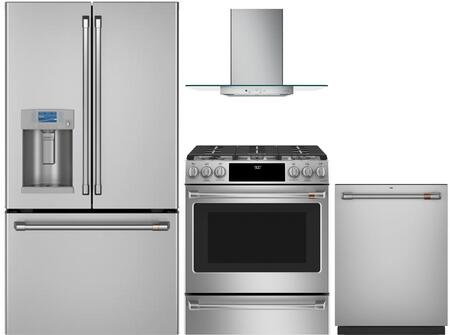 Cafe  1066351 Kitchen Appliance Package Stainless Steel, main image