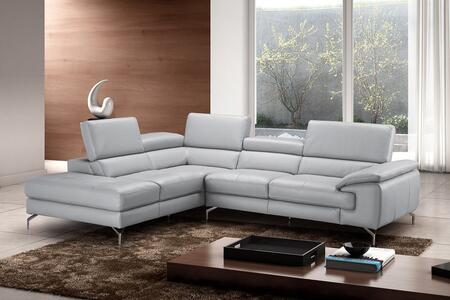 J and M Furniture Olivia 18275XHFC Sectional Sofa Gray, 1