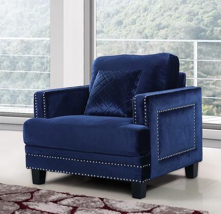 Meridian Ferrara 655NAVYC Living Room Chair Blue, Main Image