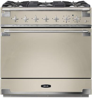 AEL36DF-IVY 36″ Elise Ivory Dual Fuel Natural Gas Range with 4.5 cu. ft. Capacity  Dual Broiler System  5 Sealed Solid Brass Burners  Continuous Cast