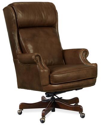 Hooker Furniture EC Series EC293082 Office Chair Brown, Silo Image