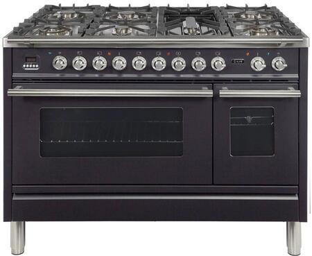 Ilve Professional Plus UPW120FDMPM Freestanding Dual Fuel Range Black, UPDW1006DMPM