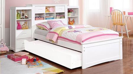 Furniture of America Pearland CM7844WHFB2B Bedroom Set White, CM7844WH-FB-2B
