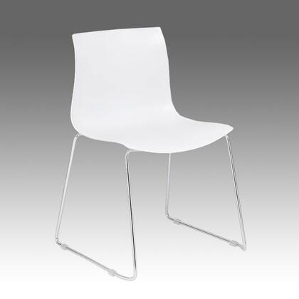 B1700-W-4 White Guest Chair With Chrome Frame 4 Pcs