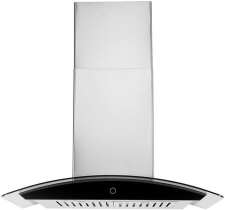 WM-639SS-30 30″ WM-639 Wall Mount Range Hood with 900 CFM  Baffle Filters  LED Lighting and Touch Control in Stainless