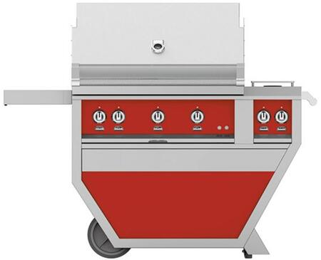 Hestan GMBR36CX2NGRD Natural Gas Grill Red, GMBR36CX2NGRD Front View