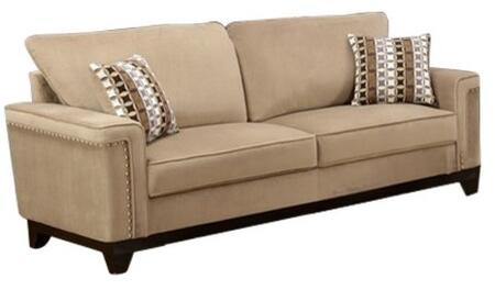 Myco Furniture Opulence OP275STA Stationary Sofa Beige, 1