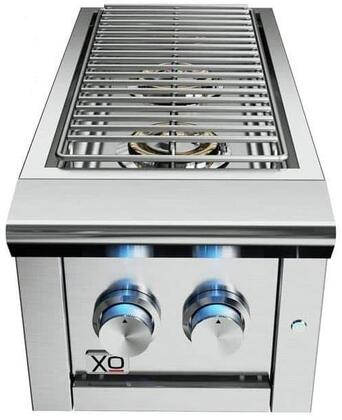 XOGSIDEBURNN 13″ Natural Gas Double Side Burner with 2 Burners  LED Control Lights and 24000 BTU in Stainless
