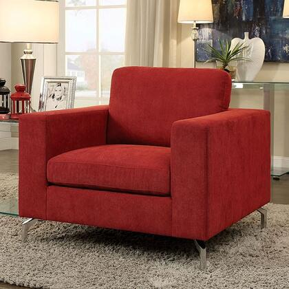 Furniture of America Kallie CM6848CH Living Room Chair Red, Main Image