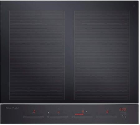 Fisher Paykel Contemporary CI244DTB2N Induction Cooktop Black, Top view