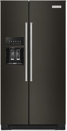 KitchenAid  KRSC703HBS Side-By-Side Refrigerator Black Stainless Steel, KRSC703HBS Side by Side Refrigerator