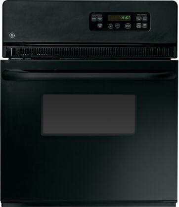 GE  JRS06BJBB Single Wall Oven Black, Main Image