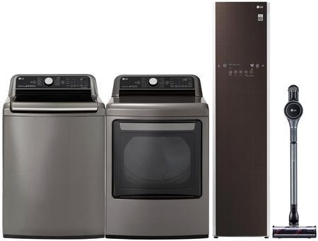 LG  1177969 Washer & Dryer Set Graphite Steel, main image