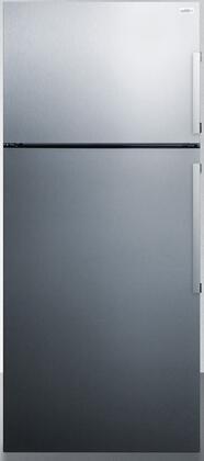 Summit  FF1511SSLHD Top Freezer Refrigerator Stainless Steel, FF1511SSLHD Front View