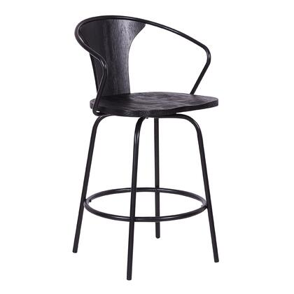 Armen Living Payton LCPYBAWBBL Bar Stool, 1