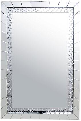 Acme Furniture Nysa 97386 Mirror Silver, Front View