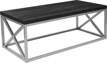 Flash Furniture Park Ridge NANCT1796BKGG Coffee and Cocktail Table Black, NAN CT1796 BK GG
