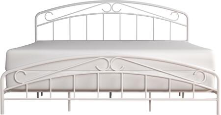 Jolie Collection 2586-660 Metal King Bed with Arched Scroll Design and welded construction in
