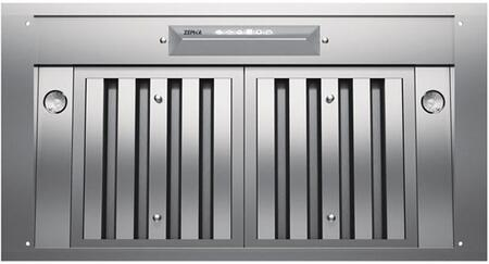 Zephyr Essentials Power AK8200AS Range Hood Insert Stainless Steel, Front View
