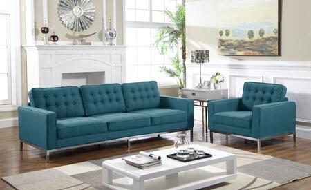 Chic Home Olson FSA2936ACSET Living Room Set Blue, Living Room Set